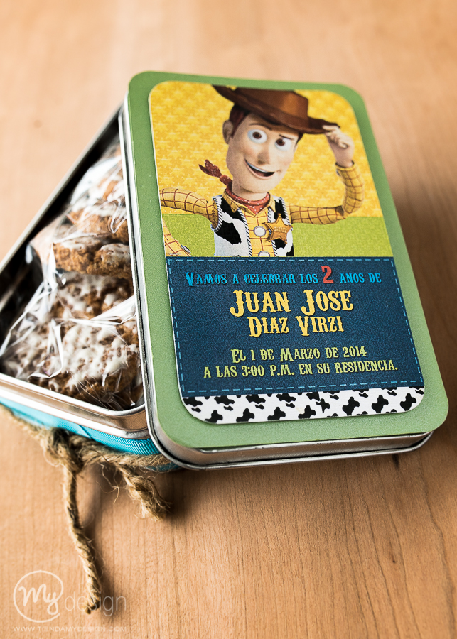 latas con galletas tema de woody – toy story